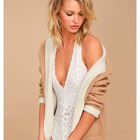 5a308a458cab3 NWT Free People Plunge Avery Bodysuit